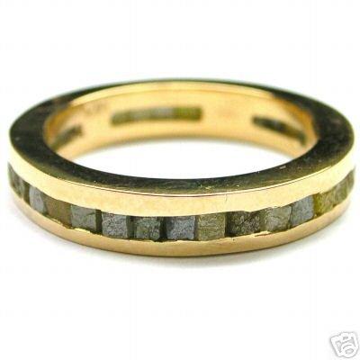 3-4 Carat ROUGH DIAMOND JEWELRY Eternity Gold Ring