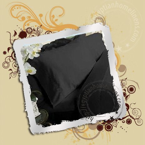 1200 TC Calking King Black Sheet Set Egyptian Cotton Luxury Linens