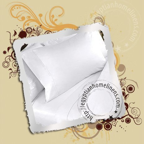 Egyptian Cotton Queen White Sheet Set 1500TC Luxury Bed Sheets