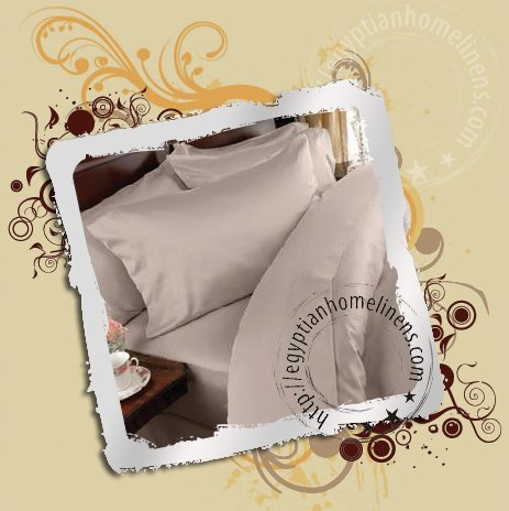 Egyptian Cotton 1000TC King Size Duvet Set Taupe