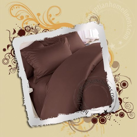 1000TC Queen Duvet Cover Egyptian Cotton Chocolate