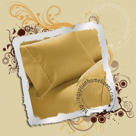 1000-TC Duvet Covers Queen Size Gold Egyptian Cotton