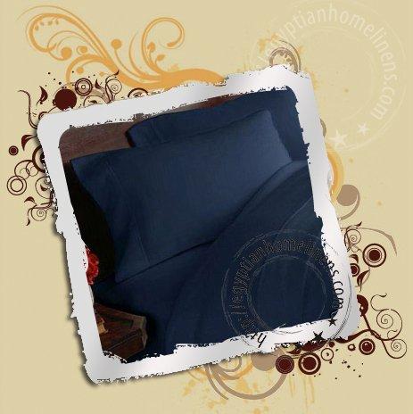 1000TC Queen Size Duvet Cover Egyptian Cotton Navy Blue
