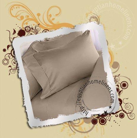 1000TC King Sheet Sets Taupe 100% Egyptian Cotton