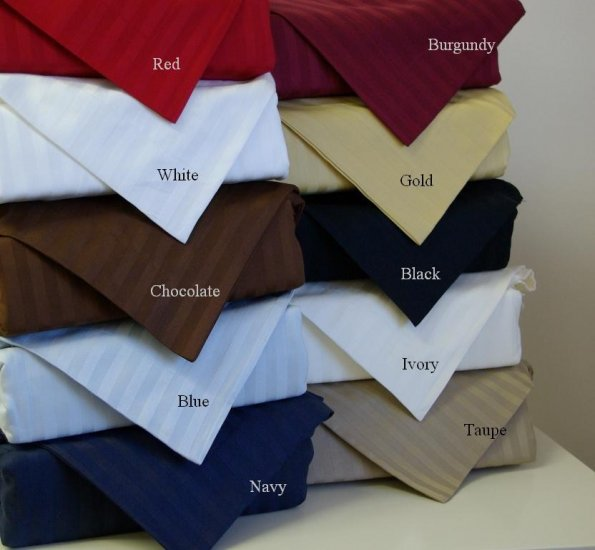 800tc Queen Sheet Sets Stripe Wine Red 100% Egyptian Cotton Bed Sheets