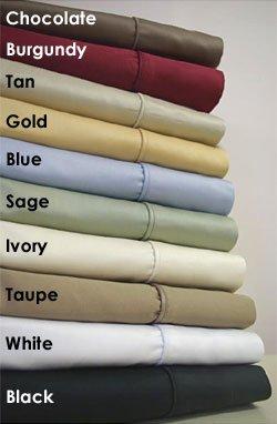 Queen Sheet Set 1000-TC Blue Egyptian Cotton Bed Sheets