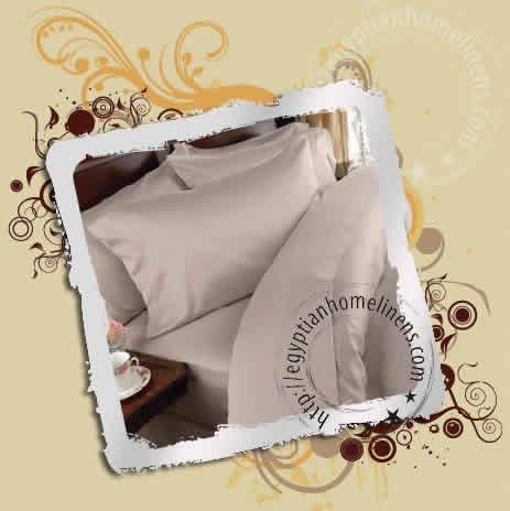 Full Size Duvet Covers 1000-TC Egyptian Cotton Beige