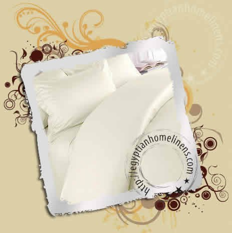 Calking Fitted Sheet 600-TC Egyptian Cotton Solid Ivory
