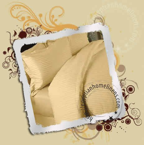 King Fitted Sheet 600-TC Egyptian Cotton Solid Gold