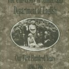 The University Of Montevallo Department Of English: Our First Hundred Years, 1896-1996