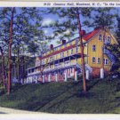 Linen Postcard. Geneva Hall, Montreat, N.C., In the Land of the Sky