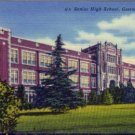 Linen Postcard. Senior High School, Gastonia, N.C.