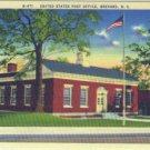 Linen Postcard. United States Post Office, Brevard, N.C.