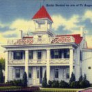Linen Postcard. Radio Station on site of Ft. Augusta, Sunbury, Pa.