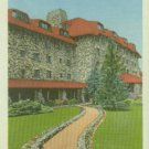 Linen Postcard. East Entrance, Grove Park Inn, Asheville, N.C.