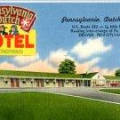 Linen Postcard. Pennsylvania Dutch Motel, U.S. Route 222...DENVER, PENNSYLVANIA