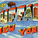 Linen Postcard. Howdy from Buffalo New York