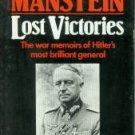 Von Manstein, Erich. Lost Victories