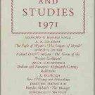 Harris, Bernard. Essays And Studies, 1971 Being Volume Twenty-Four...