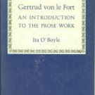 O'Boyle, Ita. Gertrud Von Le Fort: An Introduction to the Prose Work