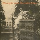 Zimmerman, Chritie Powers. Receipts And Recollections