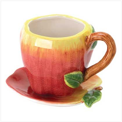 CERAMIC APPLE CUP