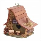 WOODEN LOVE SHACK BIRDHOUSE
