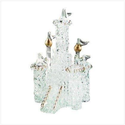 SPUN GLASS CASTLE FIGURINE - KING ARTHUR'S CASTLE