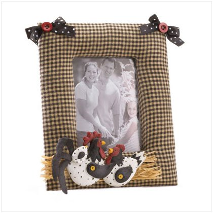 FABRIC CHICKEN PICTURE FRAME