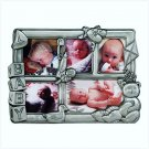 PEWTER BABY COLLAGE PICTURE FRAME