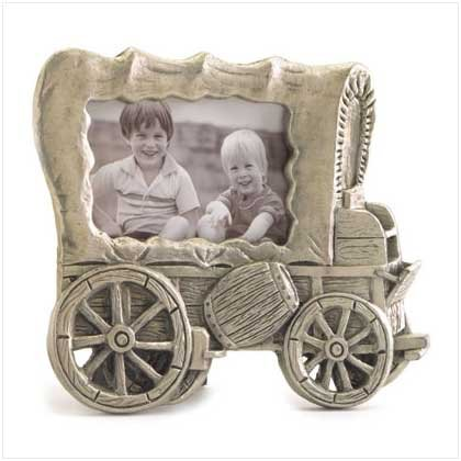 PEWTER STAGECOACH PICTURE FRAME