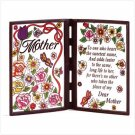 STAINED GLASS MOTHER PLAQUE