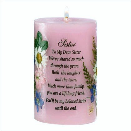 SISTER POEM CANDLE GIFT