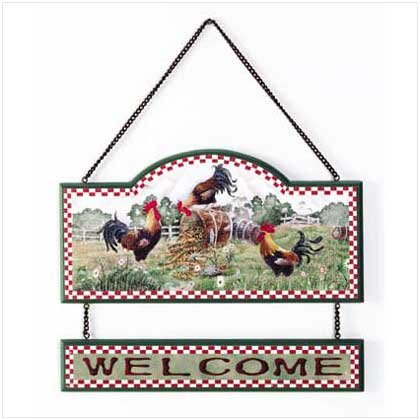 ROOSTER COUNTRY WELCOME SIGN