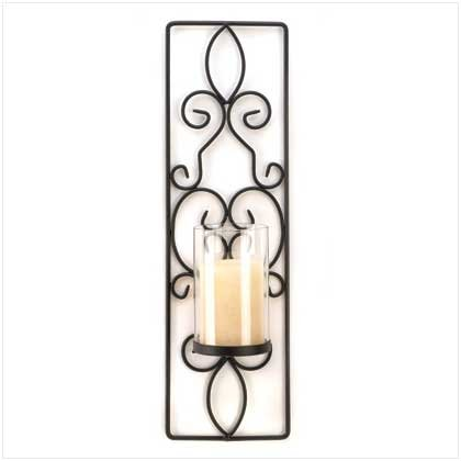 FLAMELESS CANDLE WALL SCONCE
