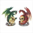 FIRE & EARTH DRAGON STATUES