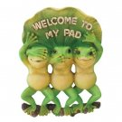 FROG WELCOME SIGN - WELCOME TO MY PAD