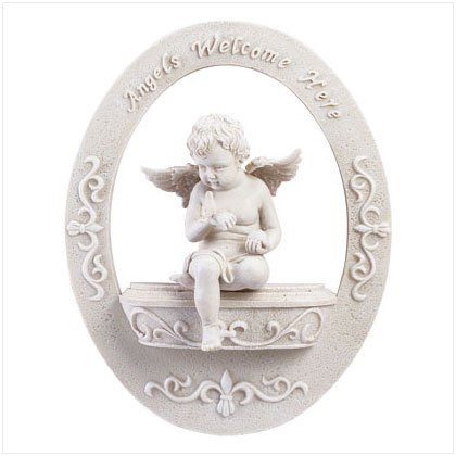 ANGELS WELCOME HERE PLAQUE