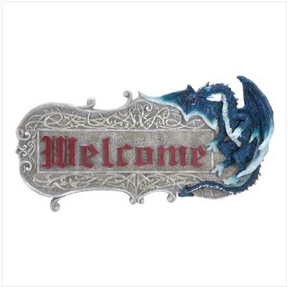 SAPPHIRE DRAGON WELCOME SIGN