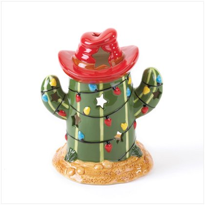 CHRISTMAS CACTUS CANDLE HOLDER