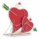 STAINED GLASS HEART CANDLE HOLDER