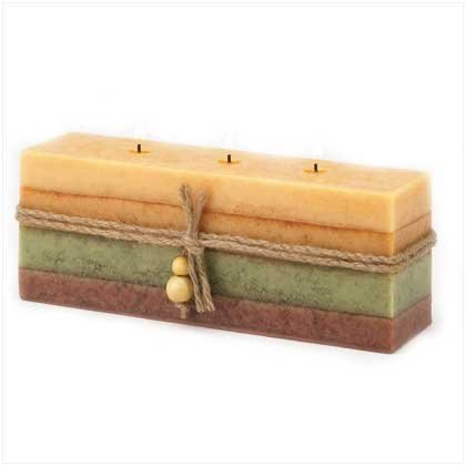GOLDEN SPICE BRICK CANDLE