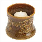 AMBER LEAF SCROLL VOTIVE HOLDER