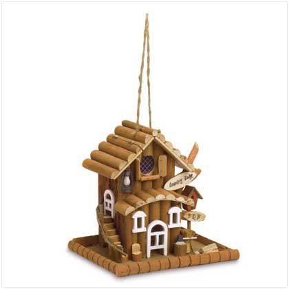 COUNTRY LODGE RUSTIC BIRD FEEDER