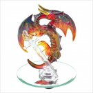 SPUN GLASS BRONZE DRAGON