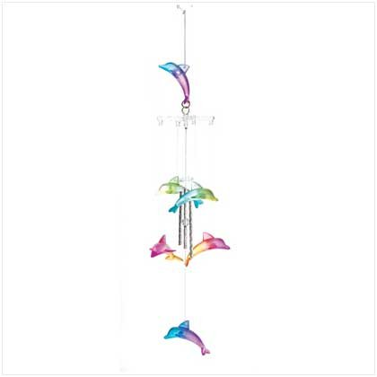 COLORFUL DOLPHINS WINDCHIMES