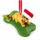 CHRISTMAS DOG BONE ORNAMENT