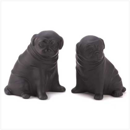 PERKY PUG DOG BOOKENDS