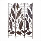 BAMBOO LEAF WROUGHT IRON DIVIDER SCREEN