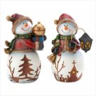 HOLIDAY SNOWMEN FIGURINES